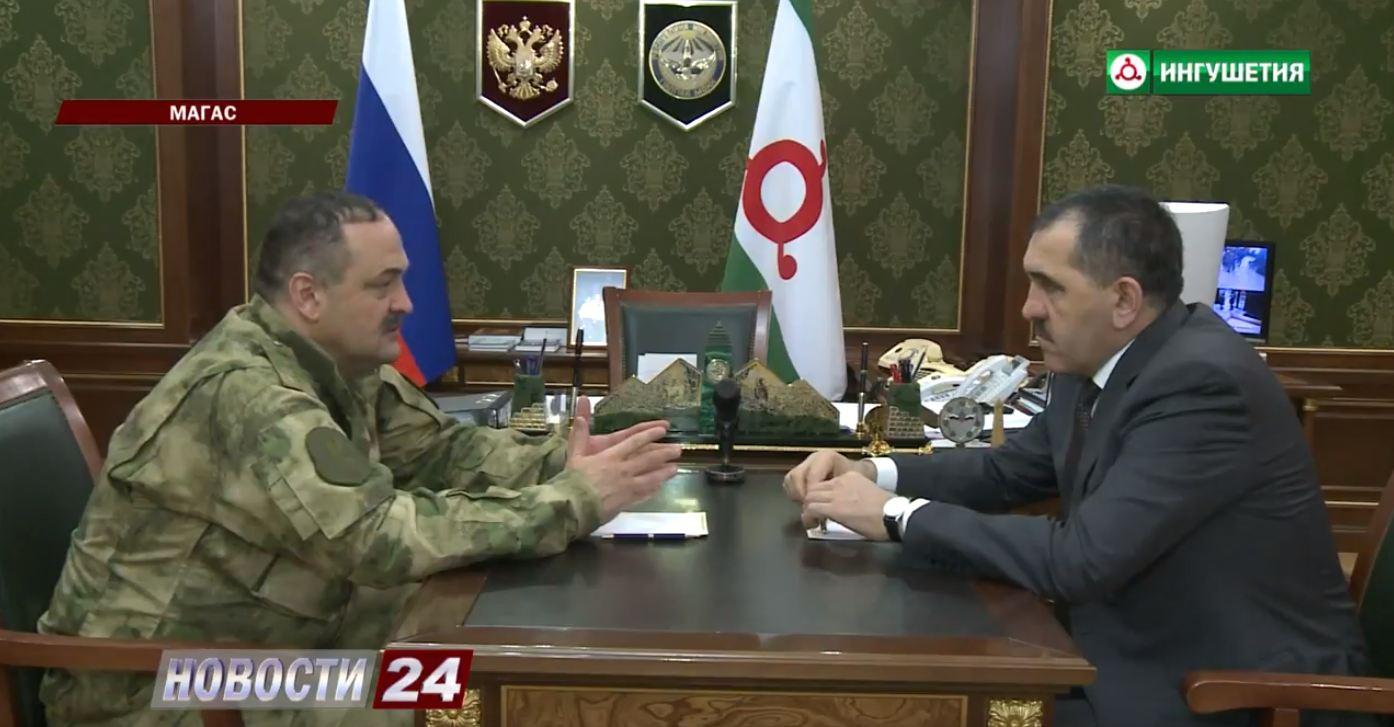 Ингушетию с рабочим визитом посетил Сергей Меликов.