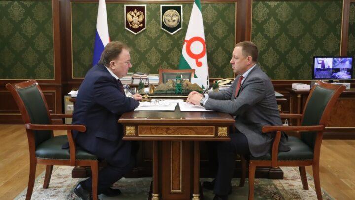 Махмуд-Али Калиматов встретился с помощником вице-премьера России Андреем Бородиным