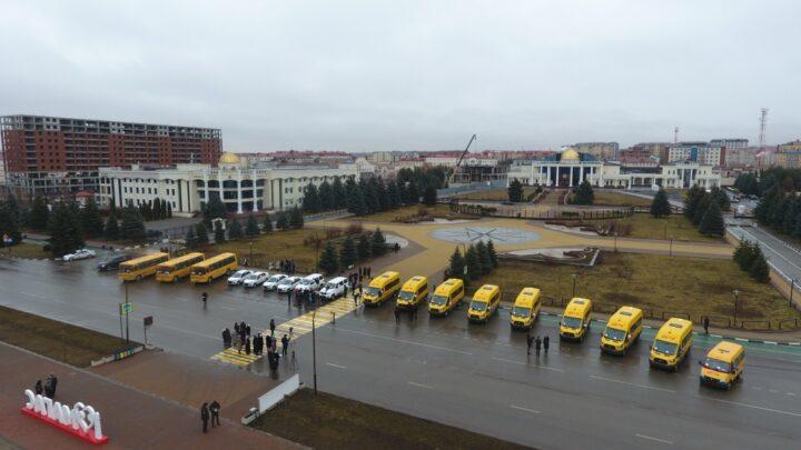 Школы и медорганизации Ингушетии получили 18 единиц нового автотранспорта