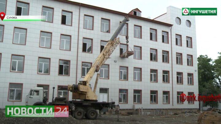Строительство поликлиники в Сунже.